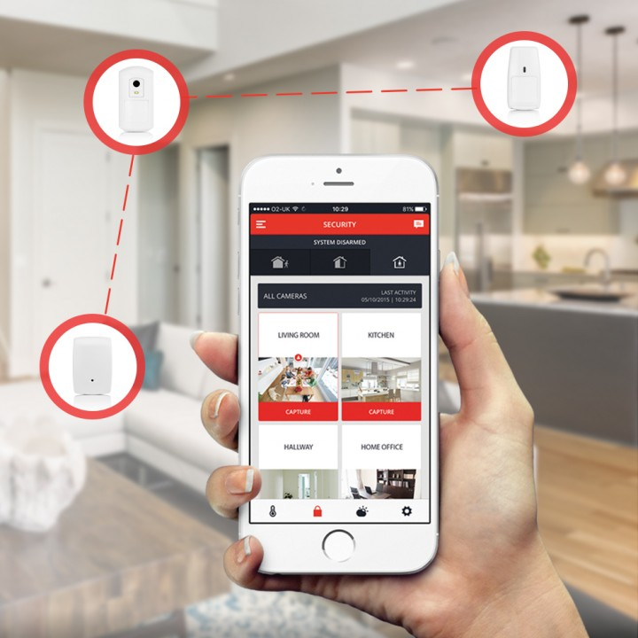 Wireless home security system : evohome security | Get Connected